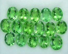 31.58 Cts Natural Forest Green Fluorite Oval 9x7 Calibrated Afghanistan