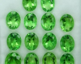 42.60 Cts Natural Forest Green Fluorite Oval 10x8 Calibrated Afghanistan
