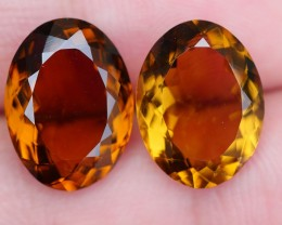 11.20 CRT BEAUTY HONEY QUARTZ PAIR FACETED-