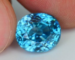 Gil Certified AAA Brilliance 7.31 ct Blue Zircon Cambodia SKU.8