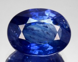2.75 Cts Natural Corundum Sapphire Cornflower Blue Oval Madagascar