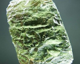 Glossy Moldavite with Light green color