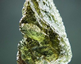 Shiny Moldavite quality A+ with Olive green color