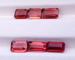 7.70 Ct Natural Rubellite Transparent Tourmaline Ring Size Gemstones