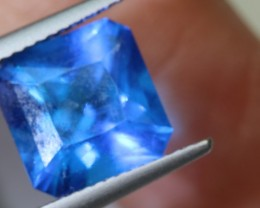 3.77- CTS  BLUE QUARTZ FACETED  CG-2564