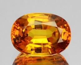 1.20 Cts Natural Golden Yellow Sapphire 7x5 mm Oval Cut Sri Lanka