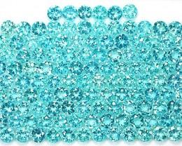57.20 Cts Natural Apatite 5.0 mm Round Paraiba Blue Green 118 Pcs Parcel