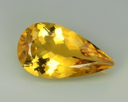 10.16 CTS DAZZLING GOLDEN YELLOW NATURAL HELIODOR YELLOW BERYL NR!!!