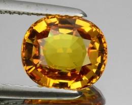 2.06 Cts Natural Corundum Sapphire Golden Yellow Oval Sri Lanka