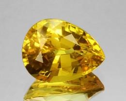 2.17 Cts Natural Corundum Sapphire Golden Yellow Pear Sri Lanka