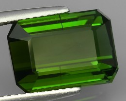 5.40~CTS  AMAZING NATURAL RARE LUSTROUS GREEN TOURMALINE~