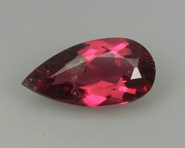 Excellent~Natural Raspberry Pinkish~Red Tourmaline Pear Cut Mozambique Gem