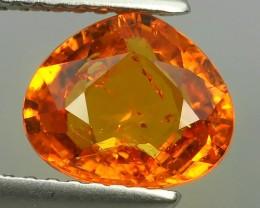 2.05 Cts Unheated Natural Orange Spessartite Garnet Pear Cut Namibia Gem