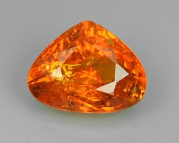 3.20 Cts_Unique Lustrous_Pear Cut_Mandarin Orange_Namibia Spessartite_