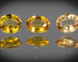 Yellow Sapphire 0.90 ct Sri Lanka GPC Lab