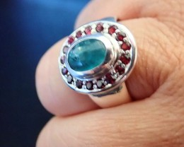 GRANDIDIERITE RING Silver 975 , UNIQUE !! NEW !!