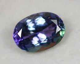 2.50Ct Natural Greenish Violet Blue Tanzanite Oval Cut Lot LZB273