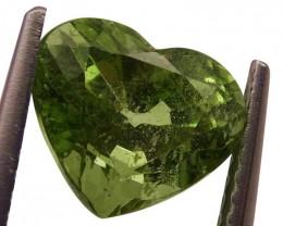 3.05 ct Heart Green Grossularite / Tsavorite Garnet