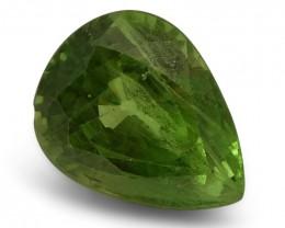 3.02 ct Pear Green Grossularite / Tsavorite Garnet