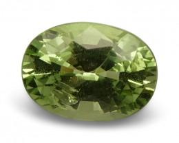 2.16 ct Oval Green Grossularite / Tsavorite Garnet - $1 No Reserve Auction