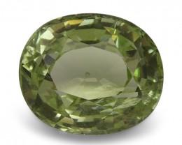 2.46 ct Oval Green Grossularite / Tsavorite Garnet