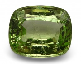 2.53 ct Cushion Green Grossularite / Tsavorite Garnet