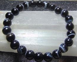 beautiful Black designer Agate  Bracelet for 8mm