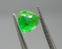 Certified VIVID 0.46cts  Afghanistan Emerald , 100% Natural Gemstone
