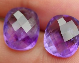 9.65 CRT BEAUTY PAIR FACETED PURPLE AMETHYST-