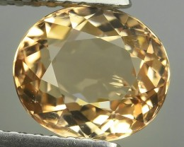 2.05 CTS MAJESTIC RARE NATURAL OVAL RARE YELLOW COLOUR-TOURMALINE MOZAMBIQ
