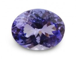 1.66 ct Oval IGI Certified Tanzanite - $1 No Reserve Auction