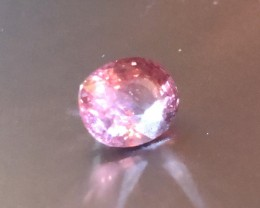 2.47 cts certified padparadscha no treatments spinel.