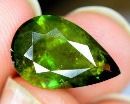 3.30 Carats AAA Color Full Fire Natural Chrome Sphene Loose Gemstone