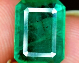 2.05 Cts Top Grade And Color Zambian Emerald Gemstone