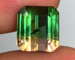 5.14 cts AAA Bicolor Tourmaline - Toxic Green - Brazil