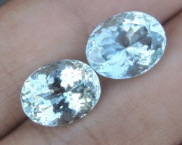 8.42cts Baby Blue Aquamarine Pair,   Clean,