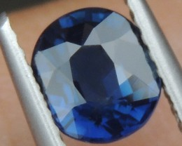 1.10cts,  Unheated Blue Sapphire,   Certified