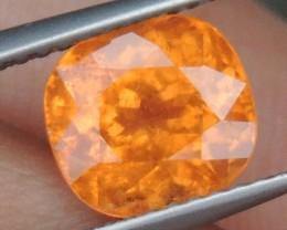 "3.06cts  ""Neon Orange"" Spessartite,  Wow Stone"