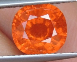 3.24cts Glowing Mandarin Spessartite,  Wow Stone