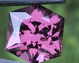 5.63ct Purple Spinel Certified BURMA Mogok Excellent cut