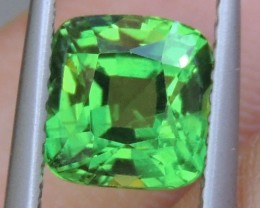 2.12cts, Certified Tsavorite,  Untreated,  Pure Green,