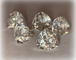 5 PC PARCEL OF TOP JEWELLERY GRADE TOPAZ TRILLIANT GEMS VVS 7MM