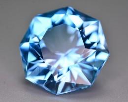19.20 Ct Natural Fancy Shape Stunning Blue Topaz Gemstone