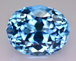 40 Ct Natural  Fancy Oval Shape  Blue  Topaz Gemstone