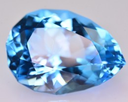 28.90 Ct Natural Stunning Pear Shape Blue Topaz Gemstone
