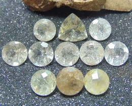 Ruitilated ~ quartz  ~ nice parcel 11 pcs 50.10 cts