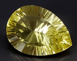 16.75Crt Lemon Quartz Special Cut  Best Grade Gemstones JI37