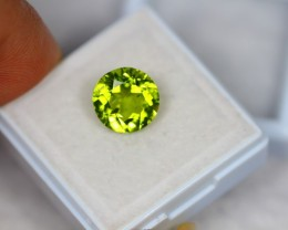 3.61ct Green Peridot Round Cut Lot V2342