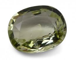 1.99 ct Cushion Green Grossularite / Tsavorite Garnet