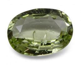 2.08 ct Oval Green Grossularite / Tsavorite Garnet